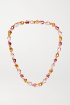 Larkspur & Hawk Caterina Riviere 18-karat Gold-dipped Quartz Necklace - one size