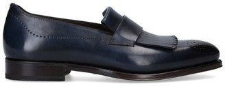 Salvatore Ferragamo Saturn Fringe Leather Loafers
