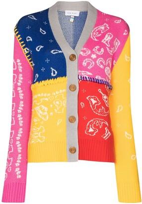 Mira Mikati Colour Block Paisley Pattern Cardigan