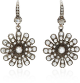 Nam Cho 18K White Gold Diamond Earrings