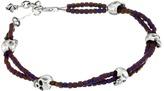 King Baby Studio Square Hematite Double Strand Bracelet with Skulls Bracelet