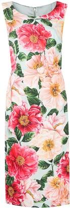 Dolce & Gabbana Floral-Print Mid-Length Dress