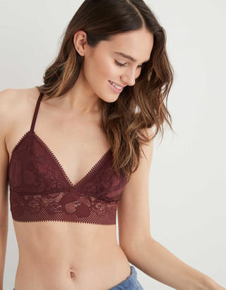 aerie Paradise Lace Padded Racerback Bralette