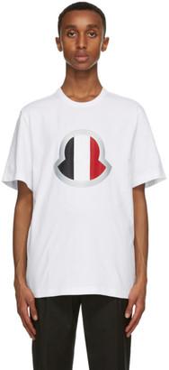 Moncler White Large Logo T-Shirt