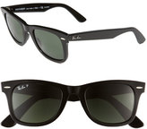 Ray-Ban Women's Standard Classic Wayfarer 50Mm Polarized Sunglasses - Black Polarized