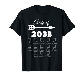 with me. Class Of 2033 Shirts Class of 2033 Grow Shirt With Space For Checkmarks T-Shirt
