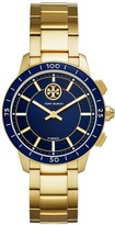 Tory Burch TORYTRACK HYBRID SMARTWATCH, GOLD-TONE STAINLESS STEEL/NAVY, 38MM