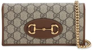 Gucci 1955 Horsebit Gg Supreme Chain Wallet