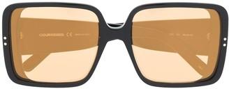 Courrèges Eyewear Two-Tone Oversized-Frame Sunglasses