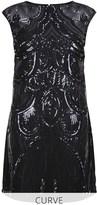 Lipsy Curve Deco Sequin Shift Dress