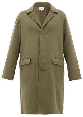 Nanushka Malick Single-breasted Wool-blend Overcoat - Khaki