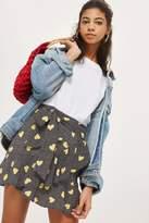 Topshop Heart ruffle tie mini skirt