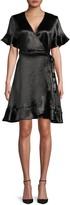 Ava & Aiden Ruffled Tie-Waist Wrap Dress