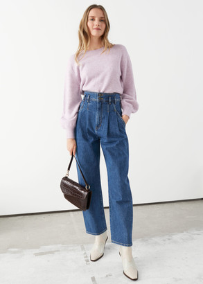 And other stories High Rise Pleated Jeans