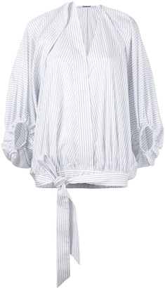 Chalayan Stripe Tied Blouse