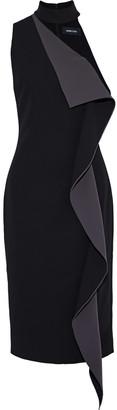 Cushnie Elettra One-shoulder Ruffled Cady Dress