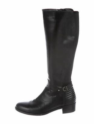 Aquatalia Orion Calf Leather Riding Boots Black