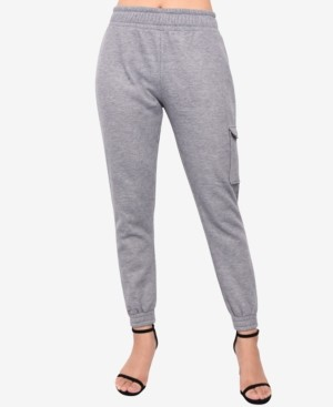 Derek Heart Juniors' Cargo-Pocket Jogger Sweatpants