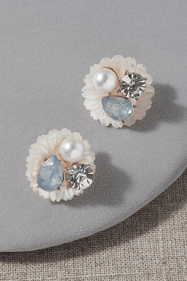 Anthropologie Nicola Bathie Matine Earrings By in White