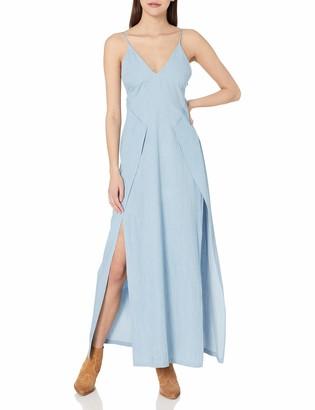 Style Stalker StyleStalker Women's Chambray Confidence Maxi Dress Small