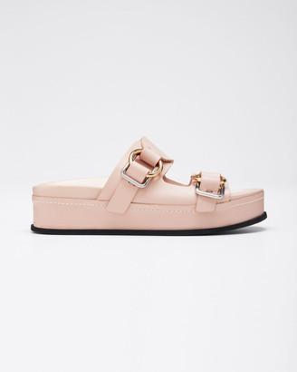 3.1 Phillip Lim Freida Platform Double-Buckle Sandals