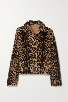 Yves Salomon Cropped Leopard-print Shearling Coat - Leopard print
