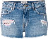 Tommy Hilfiger Tommy x Gigi tartan panelled distressed shorts
