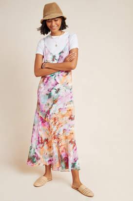 Kachel Layla Silk Tie-Dyed Maxi Dress