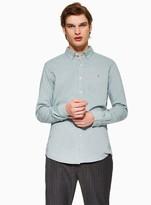 Topman FARAH Navy 'Steen' Slim Shirt*