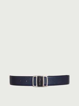 Salvatore Ferragamo Men Reversible and adjustable belt Blue