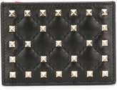 Valentino Garavani Valentino Rockstud Spike cardholder - women - Calf Leather/metal - One Size