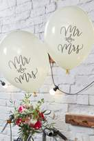 boohoo Wedding Mr & Mrs Balloon 10 Pack