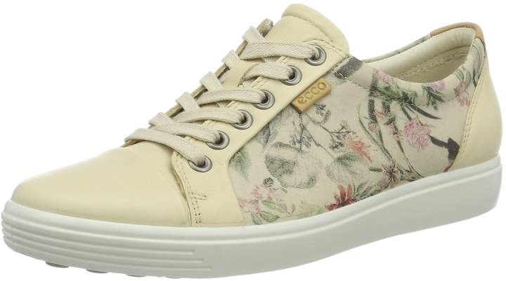 ECCO Shoes Women's Soft 7-Floral Lace up Fashion Sneakers