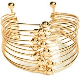 GUESS Women's Lilith Stacked Gold-Tone Cuff Bracelet