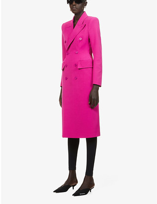Balenciaga Hourglass double-breasted wool coat