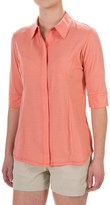 Ibex Talia Shirt - Hidden Button Front, Elbow Sleeve (For Women)
