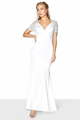 Little Mistress Rachel Wrap Fishtail Bridal Dress