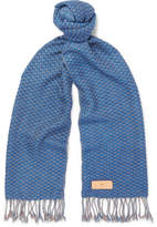 Il Bussetto Checked Woven Cotton Scarf