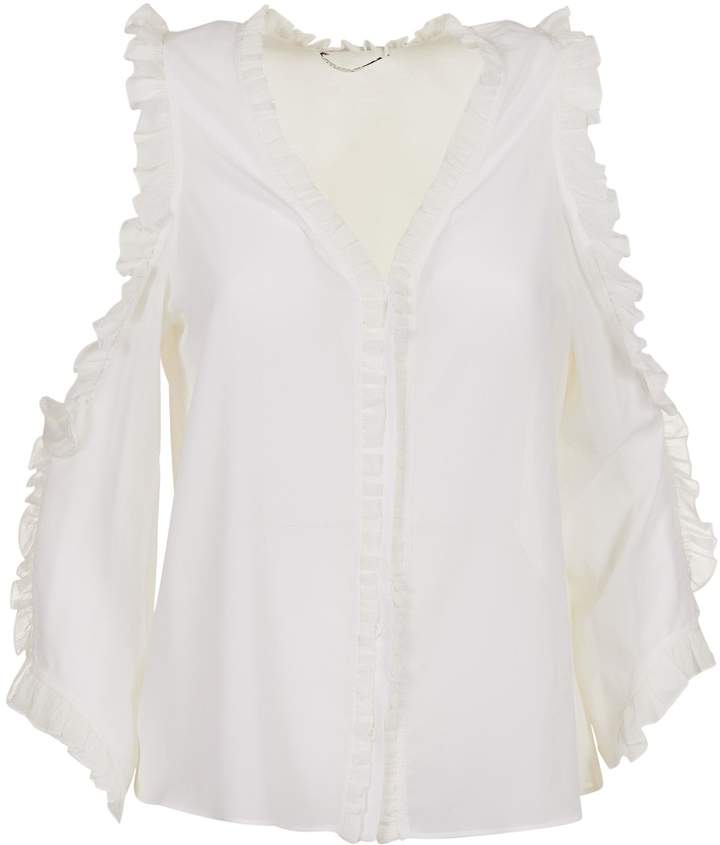 Alice + Olivia Alice & Olivia Claudette Cold Shoulder Blouse