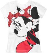 Disney Disney's Minnie Mouse Bow Cotton T-Shirt, Little Girls