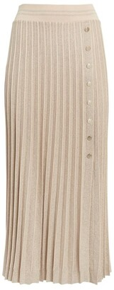 D-Exterior D.Exterior Pleated Midi Skirt