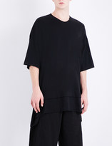 Julius Oversized cotton and silk-blend T-shirt