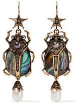 Alexander McQueen Gold-tone Multi-stone Earrings