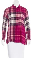 Burberry Long Sleeve Exploded Check Blouse