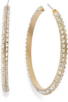 INC International Concepts Earrings, 12k Gold-Plated Glass Crystal Hoop Earrings