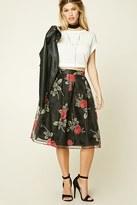 Forever 21 FOREVER 21+ Floral Print Pleated Skirt