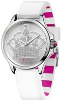 Juicy Couture Juicy 'Jetsetter' Round Silicone Strap Watch, 38mm