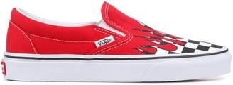 Vans Slip-On Checker Flame Red