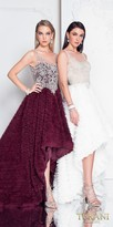 Terani Couture Texture Embellished High-low Prom Dress