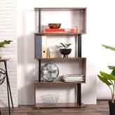 Ebern Designs Caney Geometric Bookcase Ebern Designs